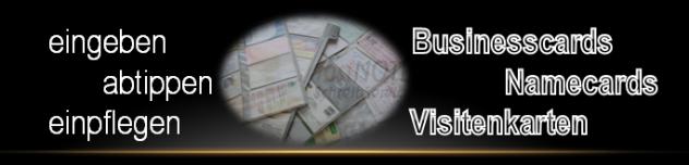 Übertragen der Visitenkarten Daten in Excel