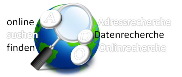 Online Adressen und Daten recherchieren - Ihr Büroservice