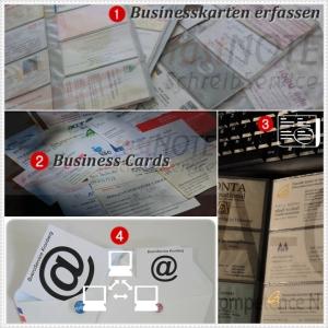 Schreibbüro - Businesscards als vCard anlegen
