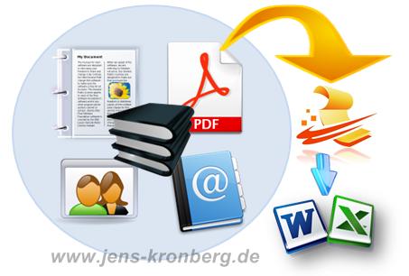 Büroservice Angebot: Erfassung von Response-Elementen wie Adresslisten