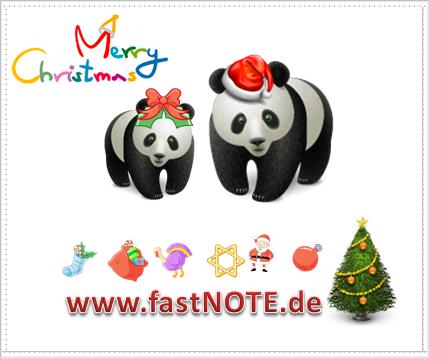 Frohe Weihnachten wünscht fastNOTE SchreibService!