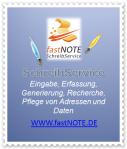 Büroservice Angebot Eingabe, Erfassung, Generierung, Recherche, Pflege von Adressen