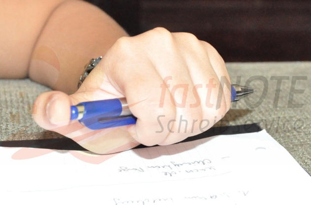 Handgeschriebene Notizen in Word tippen