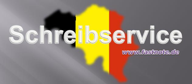 Schreibservice für Kunden aus Belgien