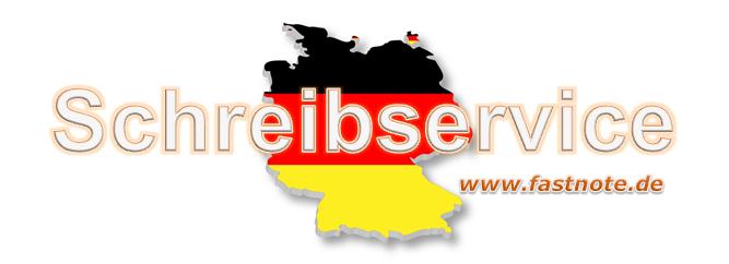 Schreibservice für Kunden aus Deutschland