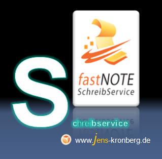 fastNOTE SchreibService - Ihr Schreibservice, preiswert, professionell und persönlich