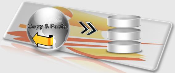 Büroservice Angebot Adressen und Daten per copy & paste übertragen