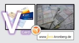 Schreibservice. Adressen von Visitenkarten als vCard einegben