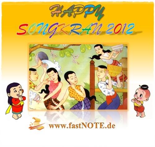 Unser Schreibservice wünscht Happy Songkran 2012