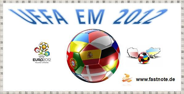 fastNOTE SchreibService gratuliert dem Gewinner der UEFA EM 2012