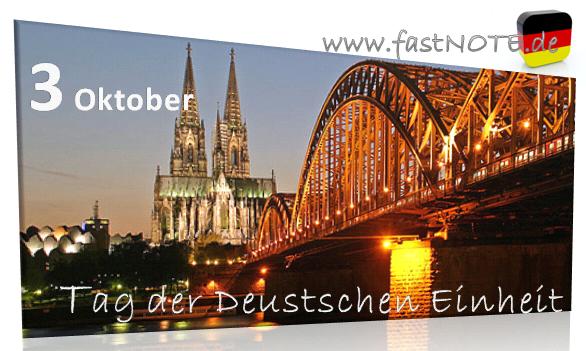 fastNOTE SchreibService wünscht alles Gute zum Tag der Deutschen Einheit!