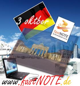 Tag der Deutschen Einheit 3. Oktober 2012