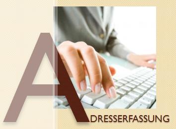 fastNOTE SchreibService - Glossar Adresserfassung