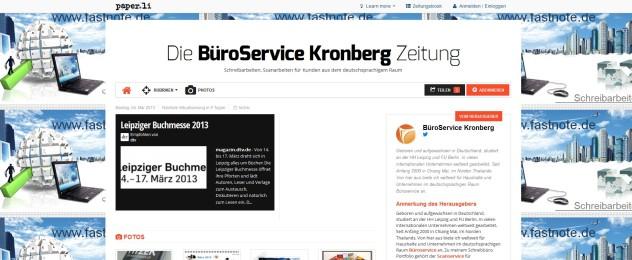 BüroService Kronberg Zeitung