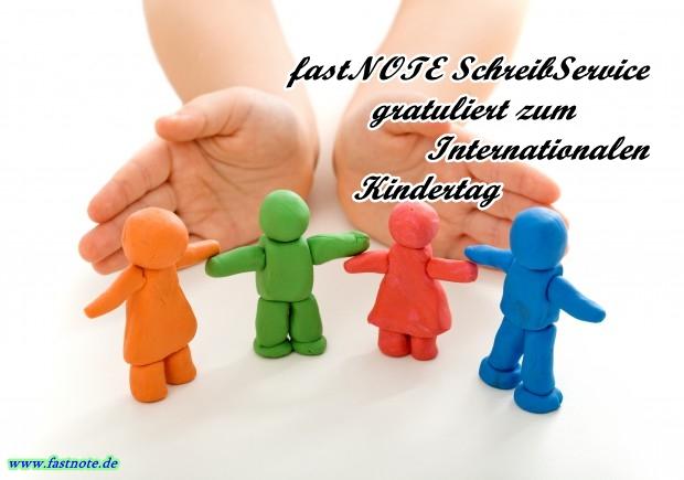 fastNOTE SchreibService gratuliert zum Internationalen Kindertag