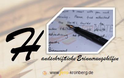 Schreibservice Glossar H - handschriftliche Erinnerungshilfen