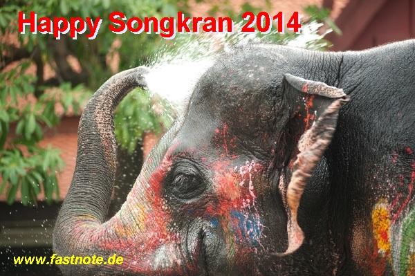 fastNOTE SchreibService wünscht Happy Songkran 2014