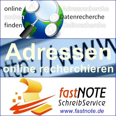 Adressen online recherchieren