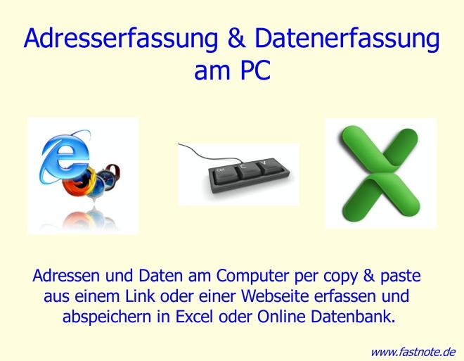 Adresserfassung und Datenerfassung