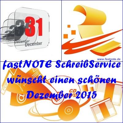 01.12.2015 fastNOTE SchreibService
