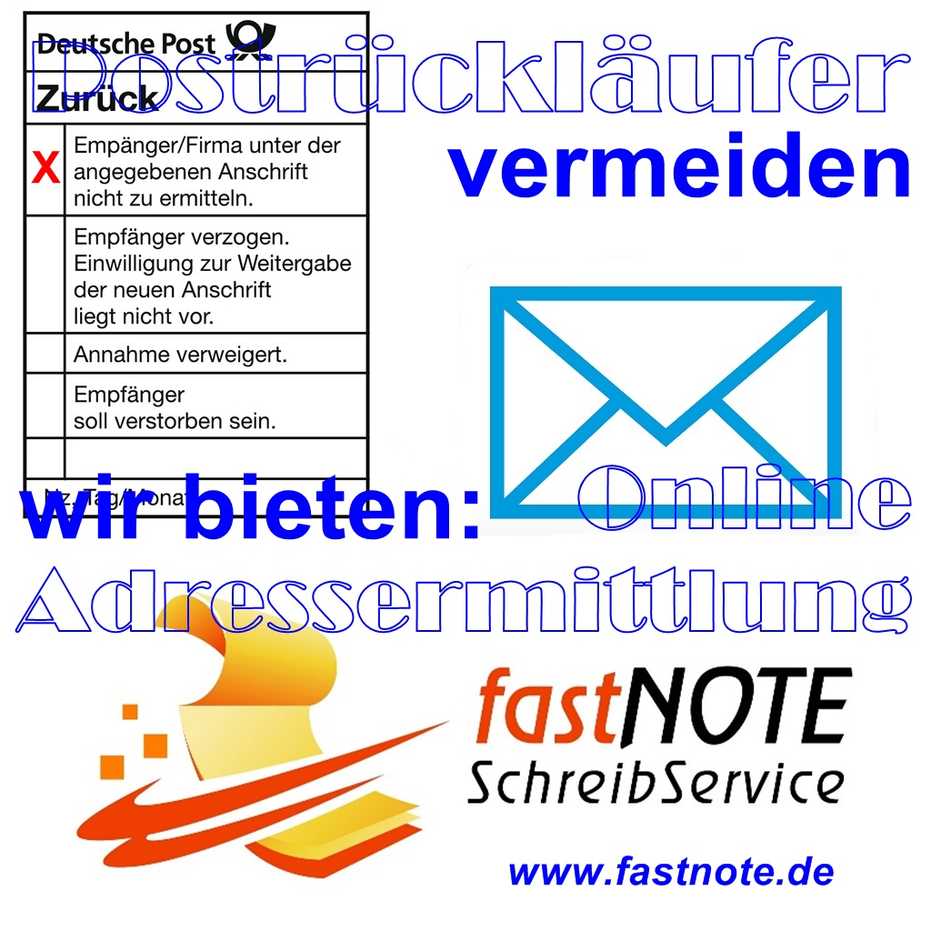 Weniger Postrückläufer – Aktuelle Adressen – Gute Rücklaufquote