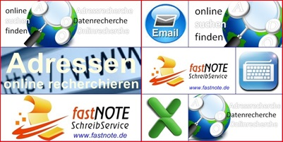 Adressrecherche fastNOTE SchreibService